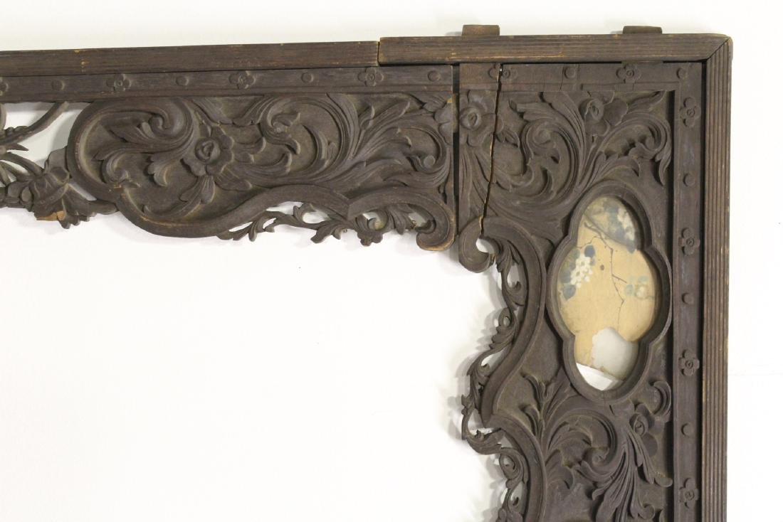 Chinese 19th c. wood carved entry way ornament - 2
