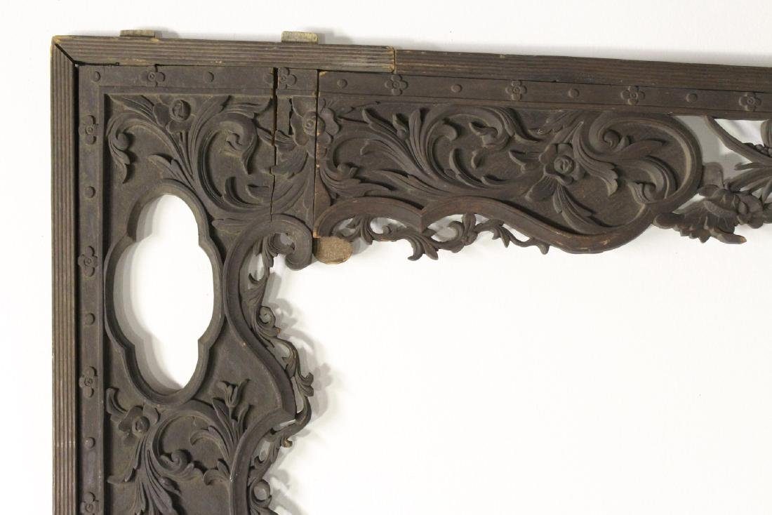 Chinese 19th c. wood carved entry way ornament - 3