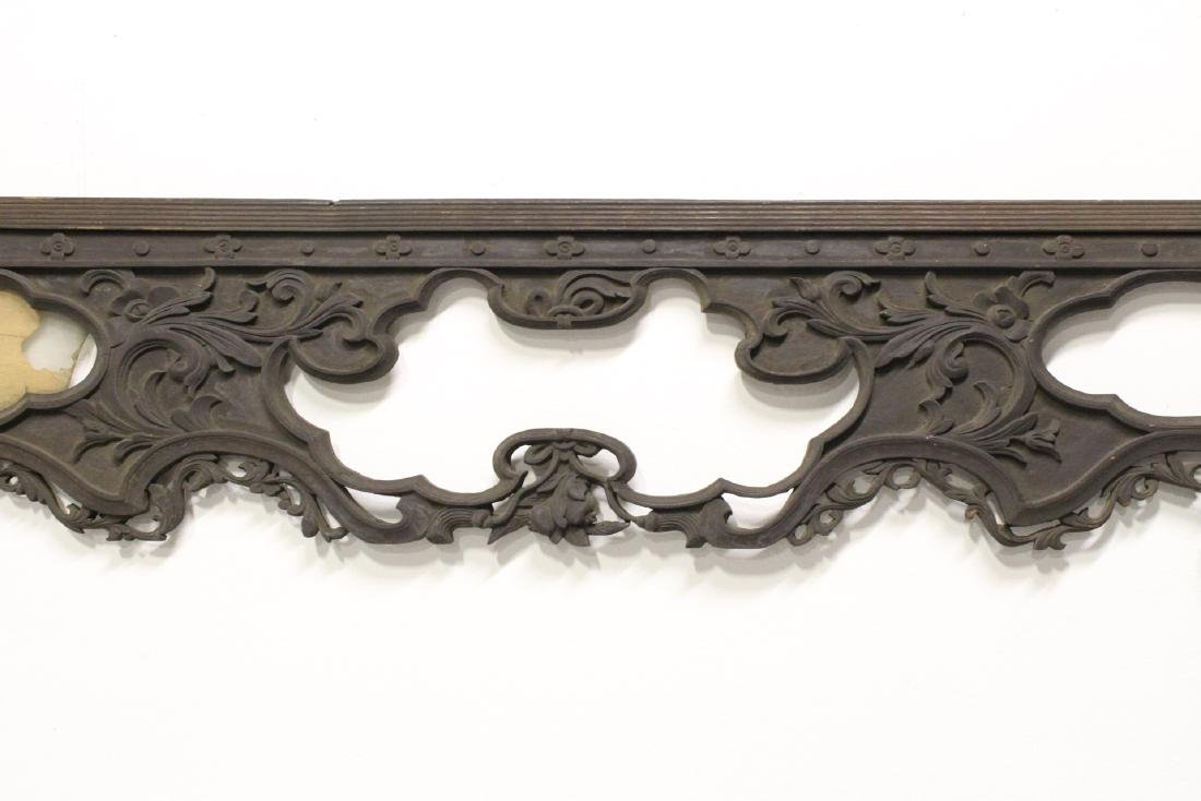 Chinese 19th c. wood carved entry way ornament - 4