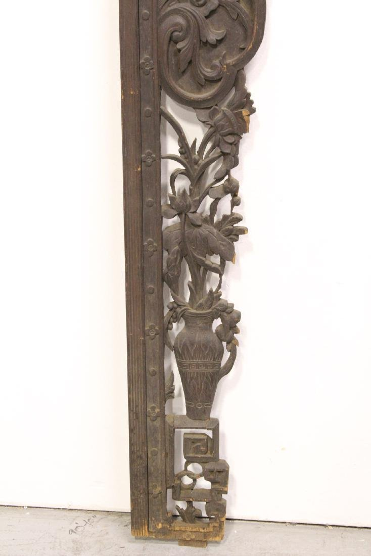 Chinese 19th c. wood carved entry way ornament - 5