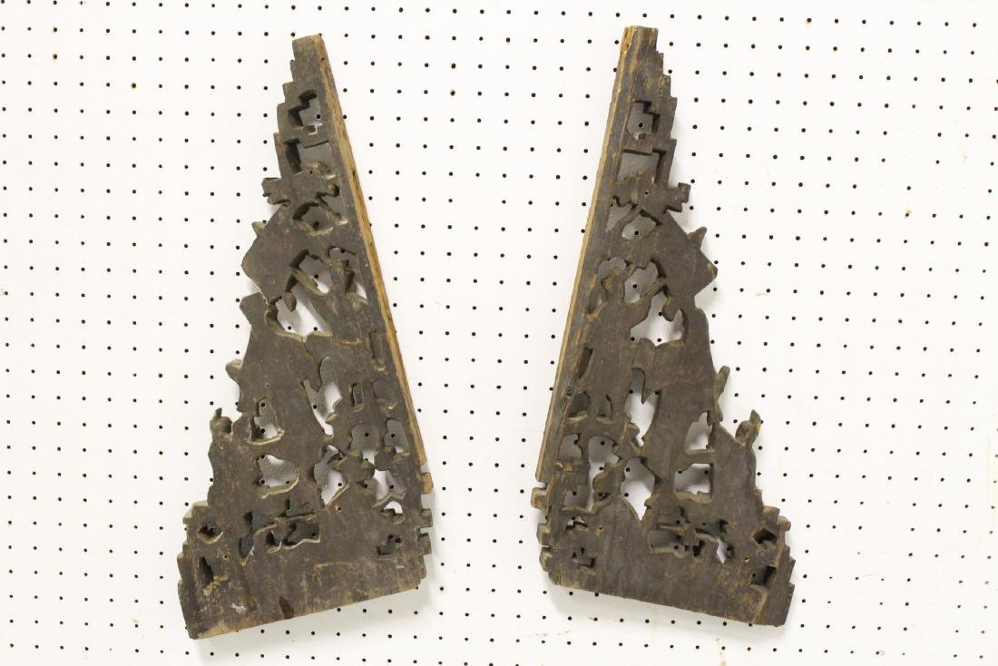 2 Chinese 19th c. gilt wood carved ornaments - 9