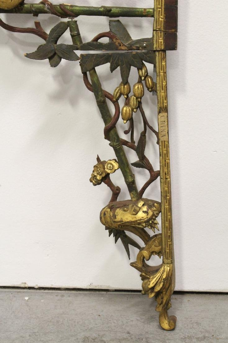 Chinese 19th c. wood carved entry way ornament - 10