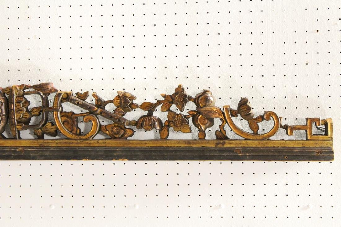 4 Chinese 19th c. wood carved wall ornaments - 9