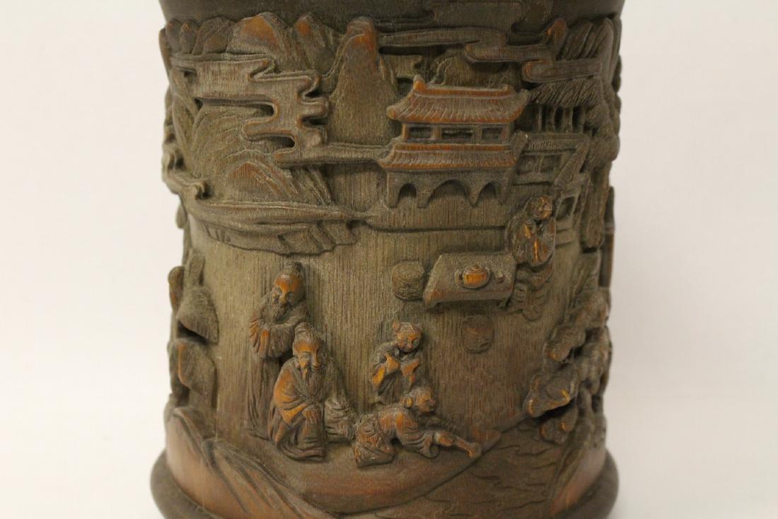 Chinese bamboo brush holder - 6
