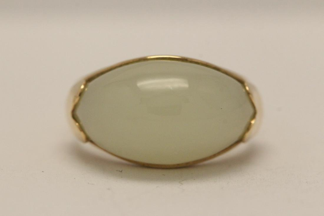 10K gold jade ring - 6