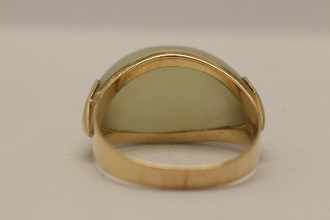 10K gold jade ring - 9