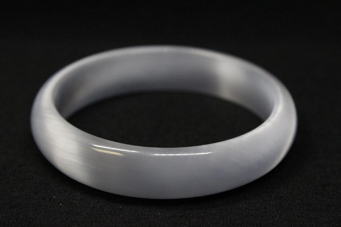 Lavender jadeite like bangle bracelet - 4