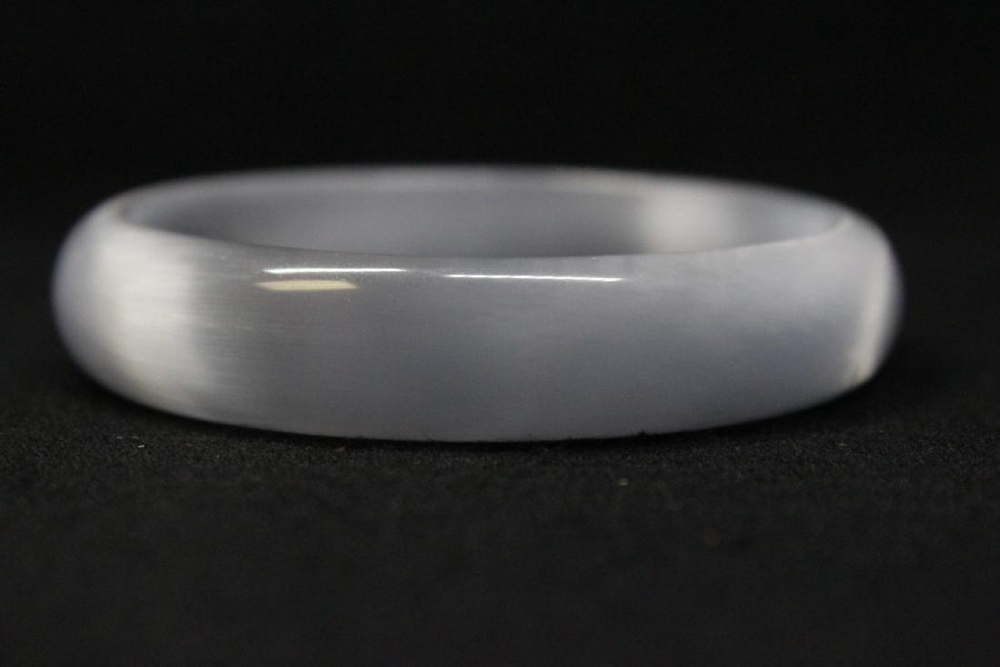 Lavender jadeite like bangle bracelet - 5