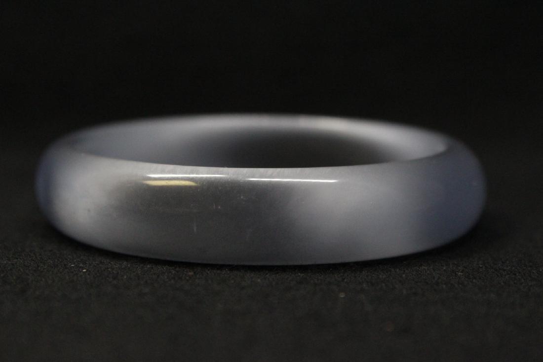 Lavender jadeite like bangle bracelet - 6