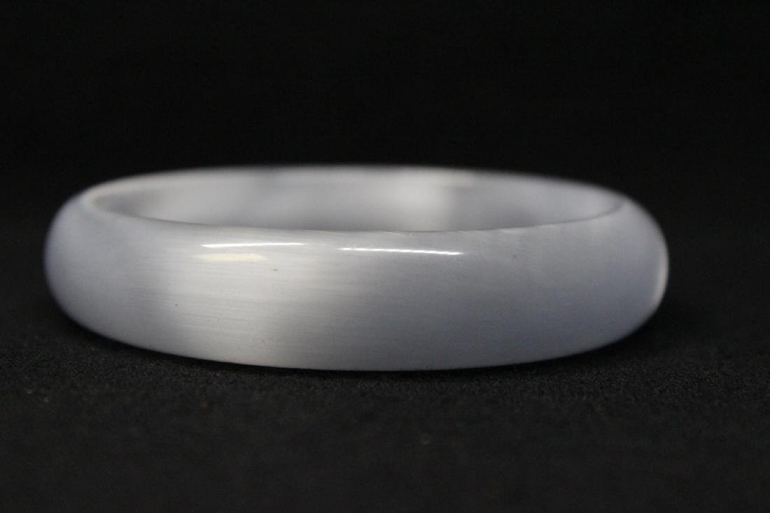 Lavender jadeite like bangle bracelet - 7