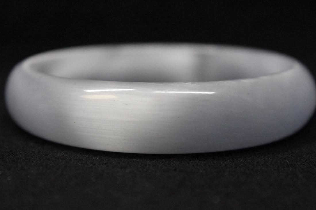 Lavender jadeite like bangle bracelet - 8