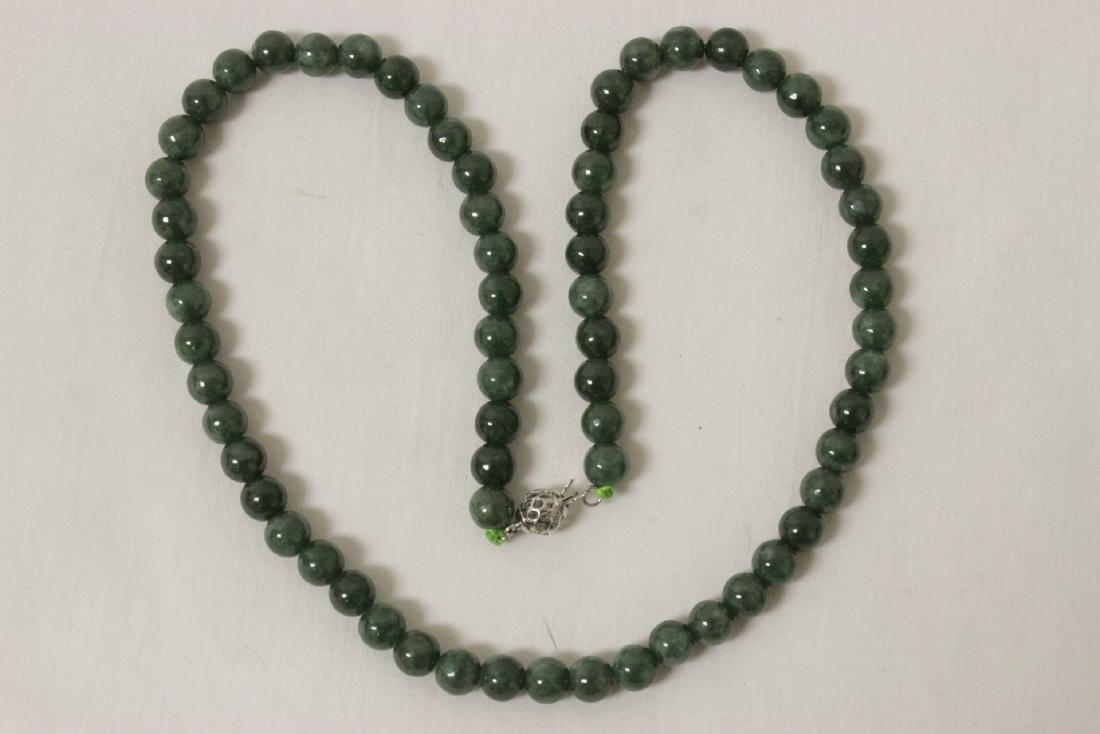 2 jadeite like bead necklaces - 6