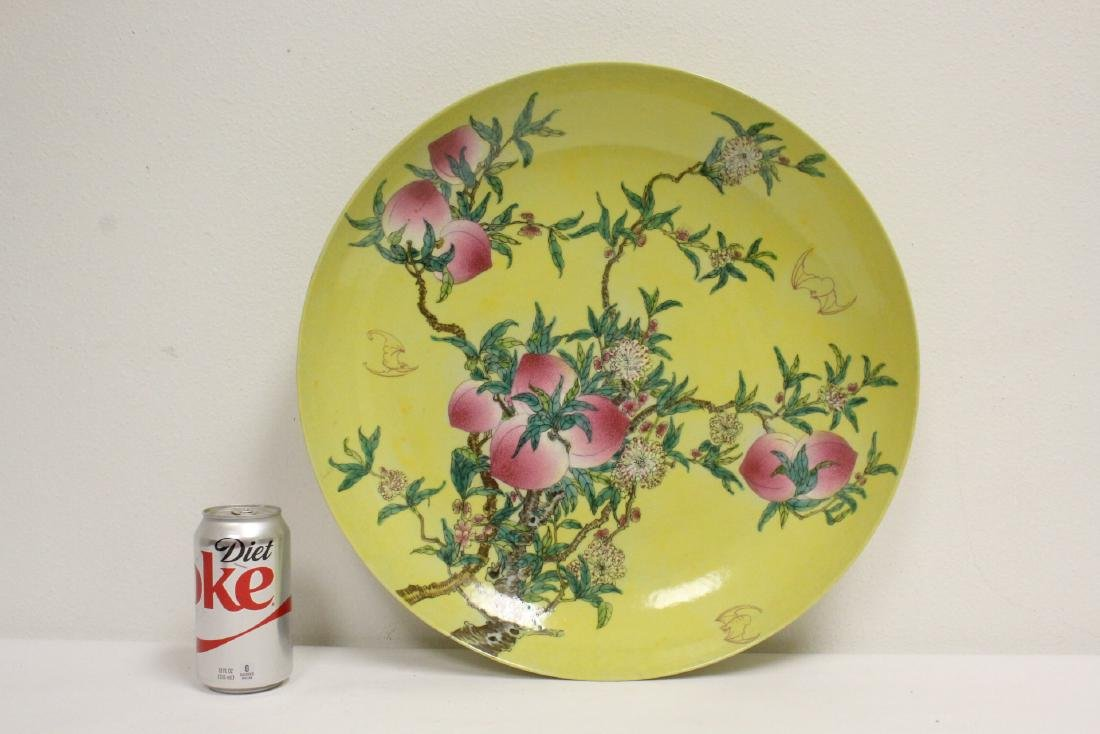 A large Chinese famille rose porcelain charger