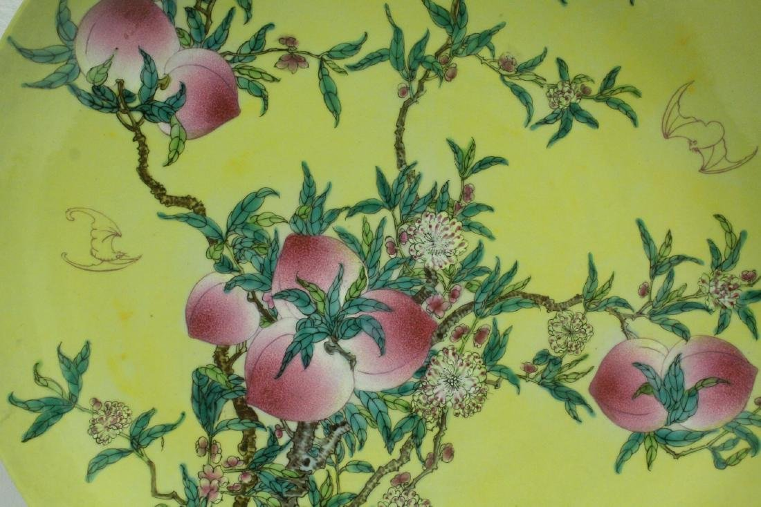 A large Chinese famille rose porcelain charger - 6