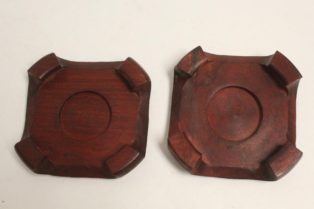 3 pieces Chinese rosewood stands - 10