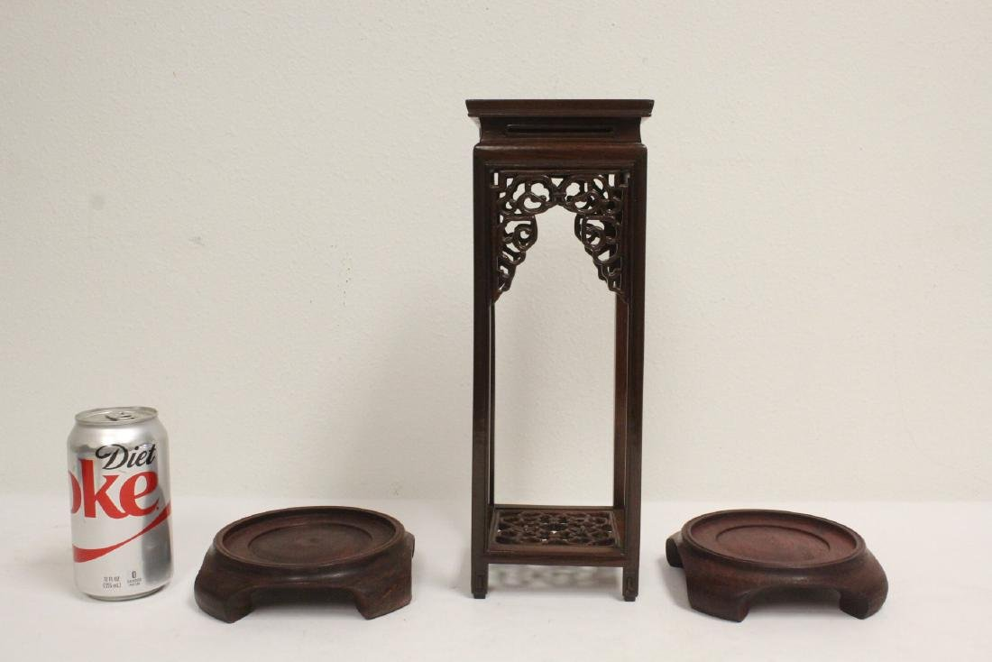 3 pieces Chinese rosewood stands