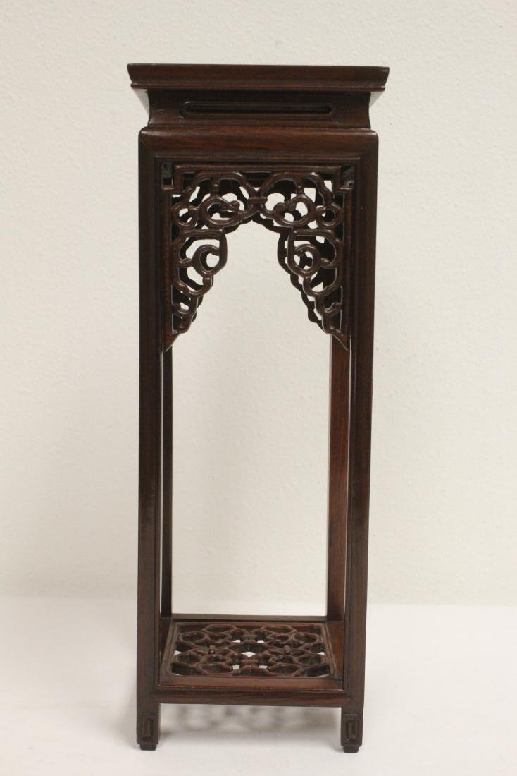 3 pieces Chinese rosewood stands - 2