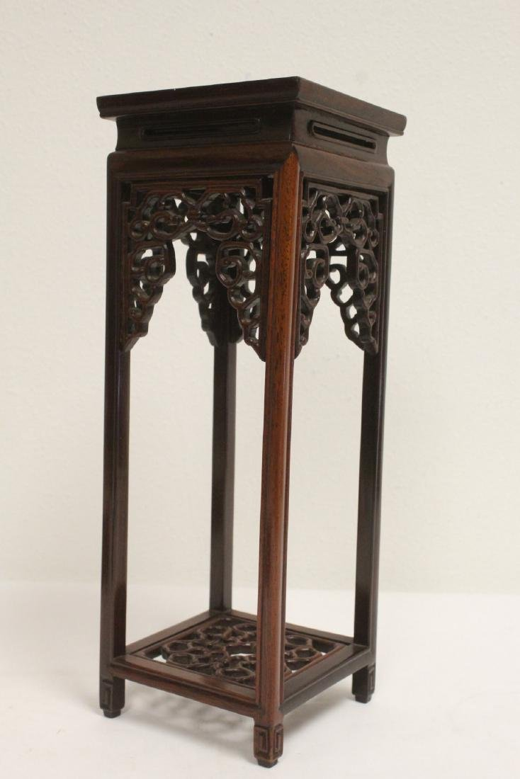 3 pieces Chinese rosewood stands - 3