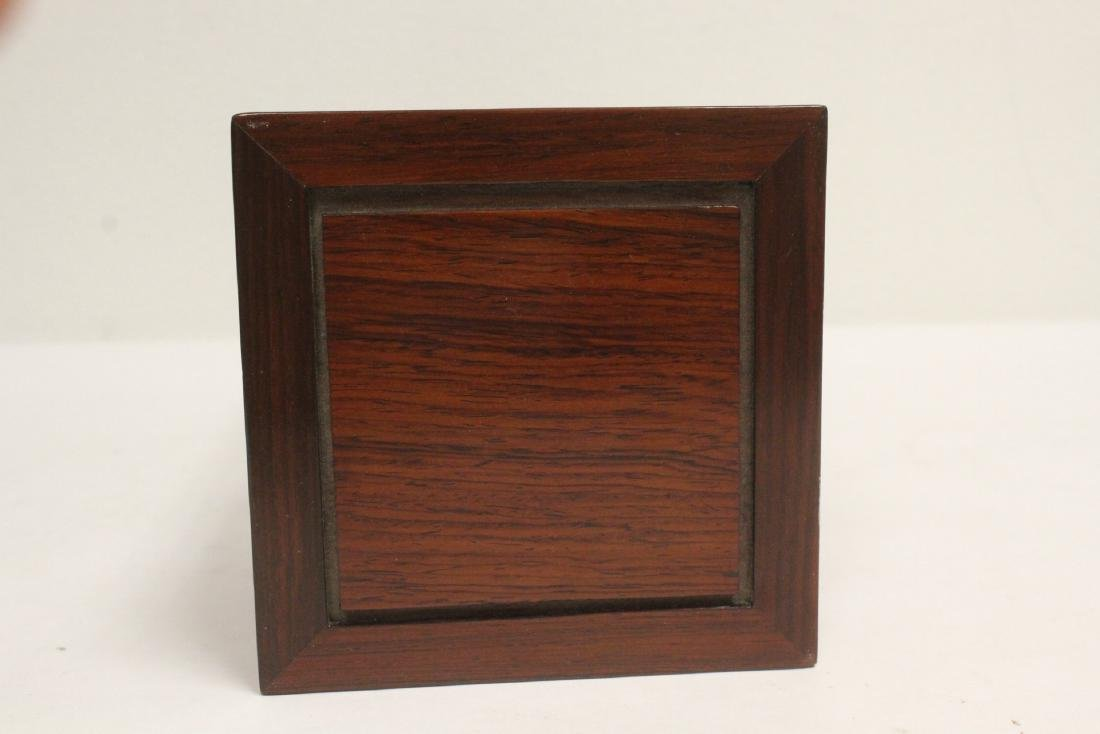 3 pieces Chinese rosewood stands - 4