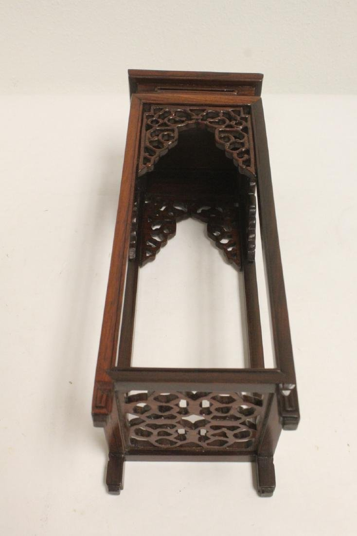 3 pieces Chinese rosewood stands - 5