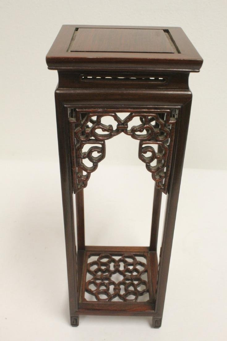 3 pieces Chinese rosewood stands - 6