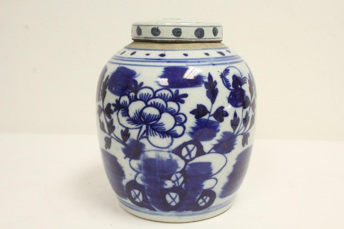 2 Chinese antique blue and white porcelain jars - 9