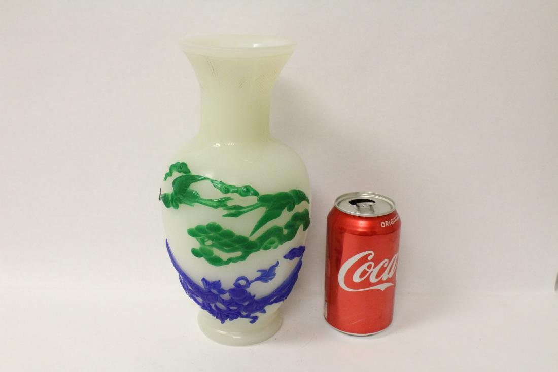 A beautiful Chinese overlay Peking glass vase - 10