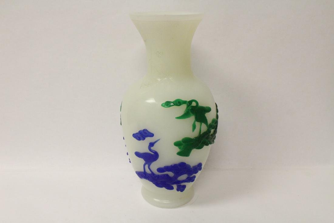 A beautiful Chinese overlay Peking glass vase - 3