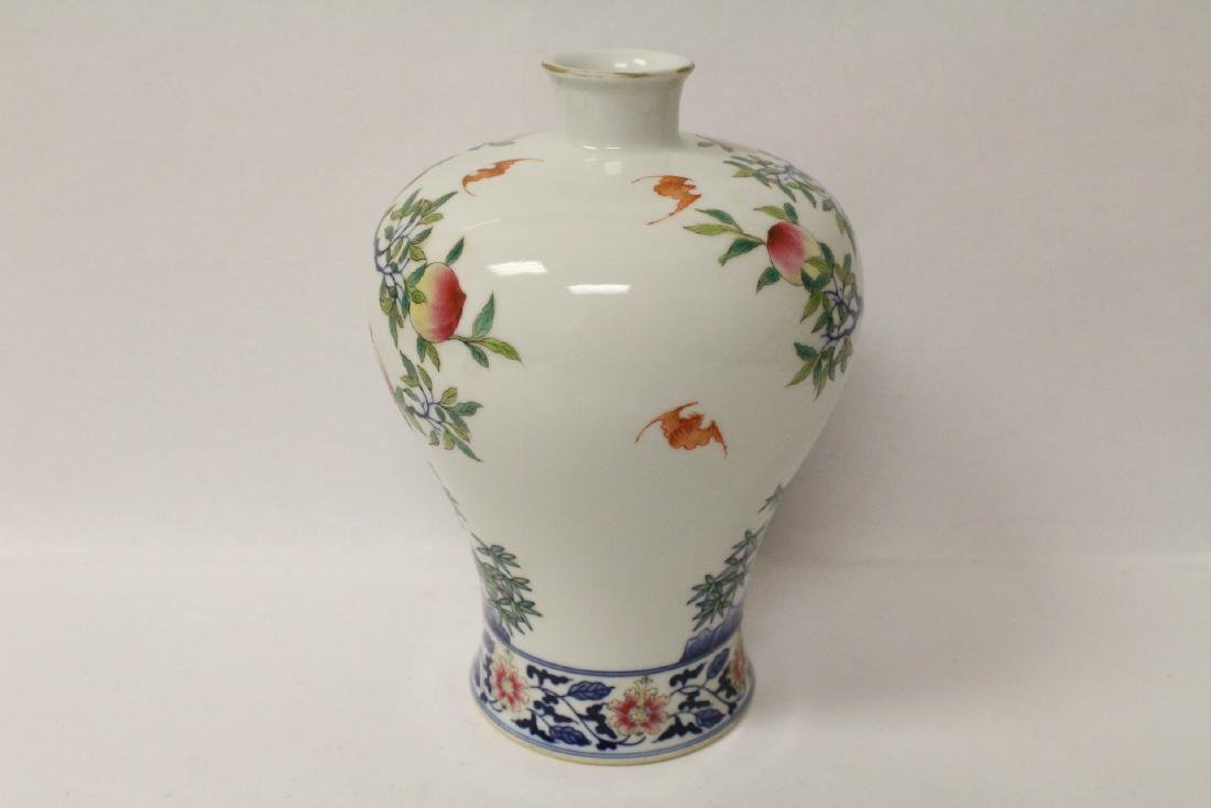 A beautiful Chinese famille rose porcelain meiping - 4