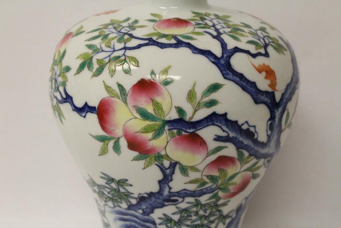 A beautiful Chinese famille rose porcelain meiping - 5