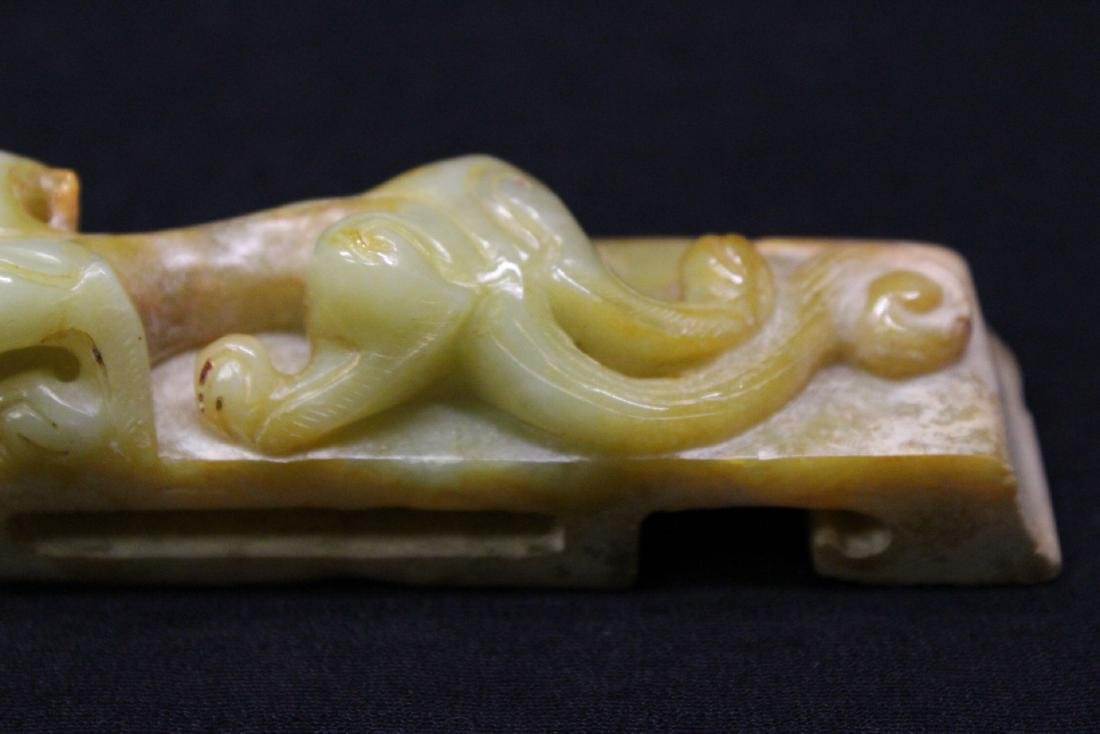 Chinese celadon jade carved paper weight - 4