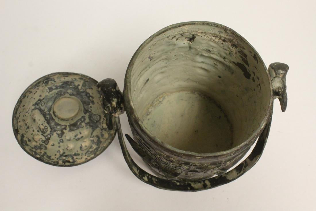 Chinese archaic style bronze handles hu - 6