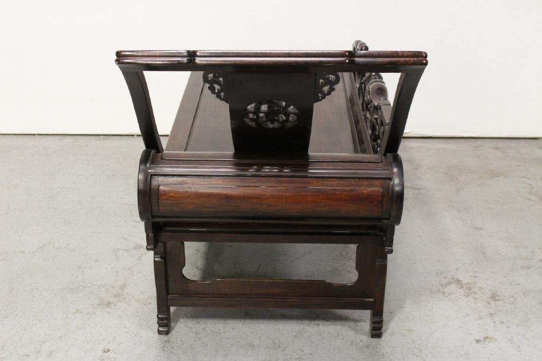 A fine Chinese vintage rosewood lounge chair - 10