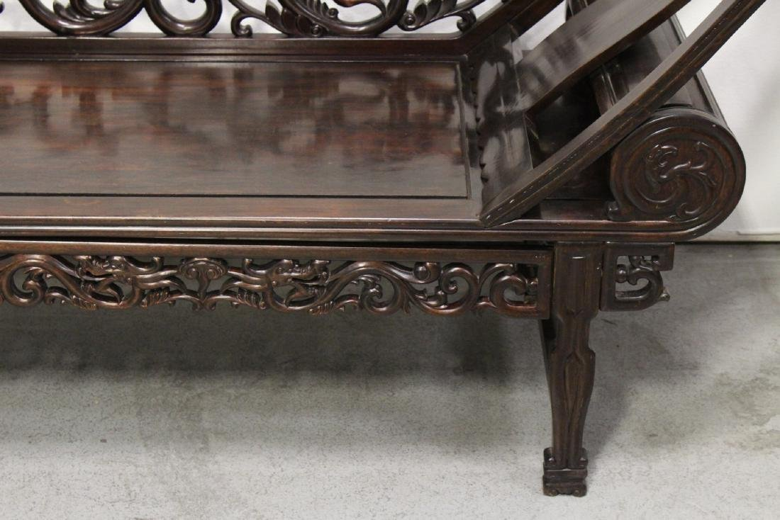 A fine Chinese vintage rosewood lounge chair - 3