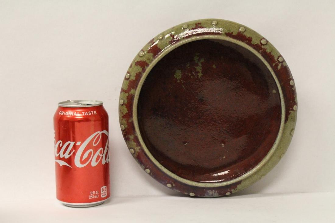 Large Chinese red glazed brush wash - 9