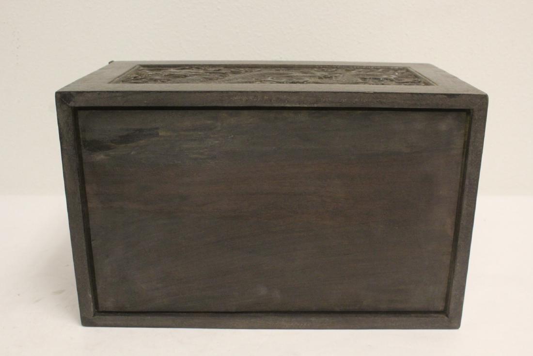 Chinese rosewood box - 10