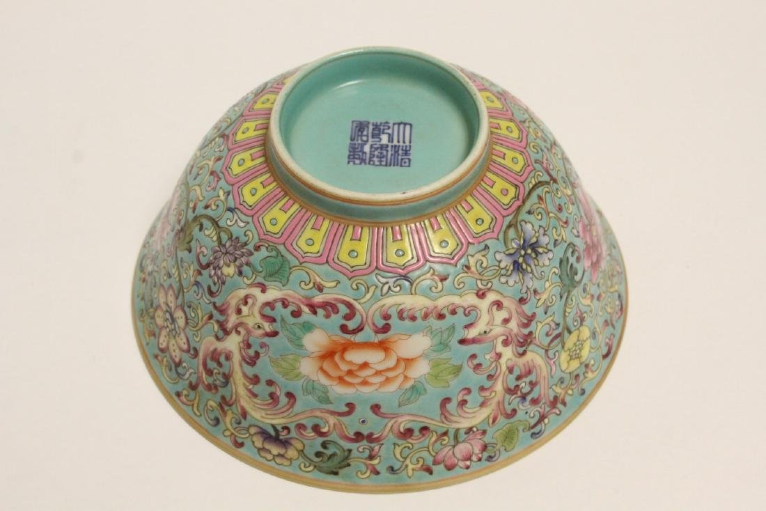 Beautiful Chinese famille rose porcelain bowl - 10