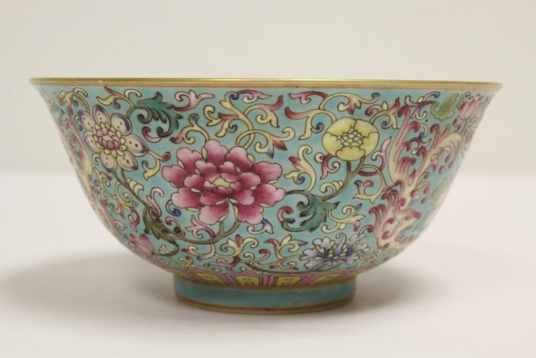 Beautiful Chinese famille rose porcelain bowl - 2