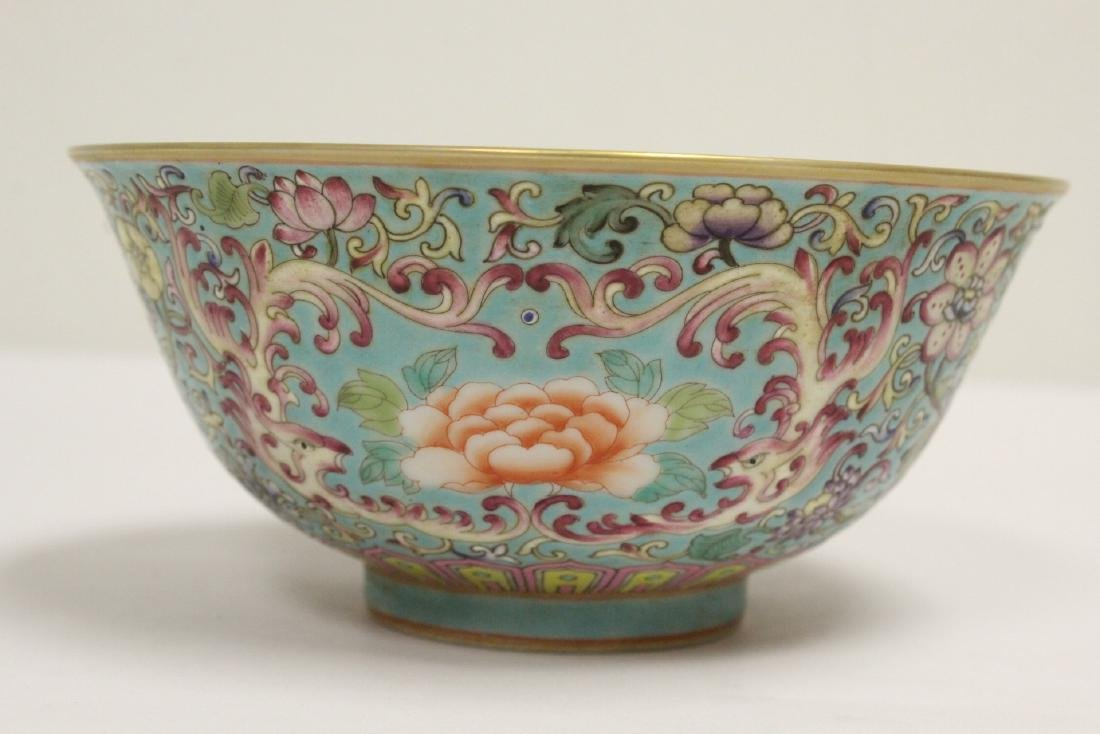 Beautiful Chinese famille rose porcelain bowl - 3