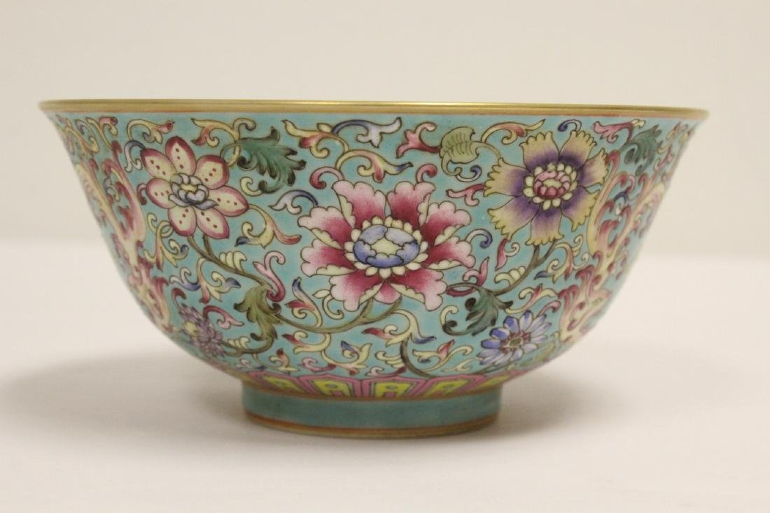 Beautiful Chinese famille rose porcelain bowl - 4