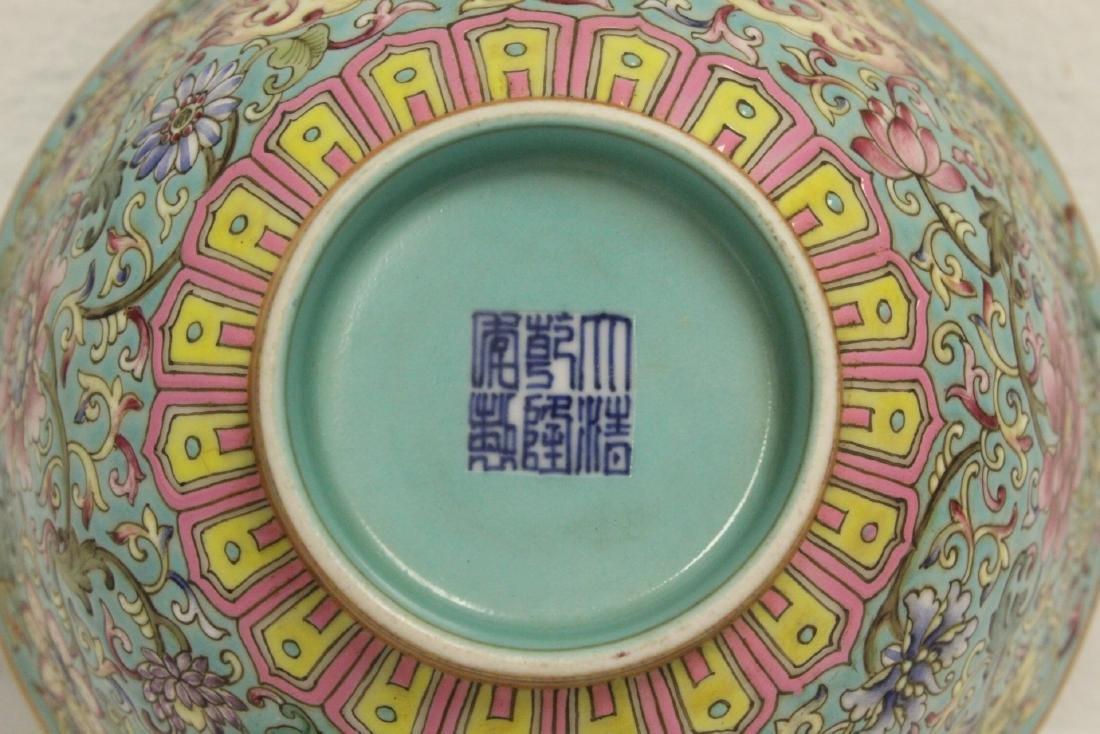Beautiful Chinese famille rose porcelain bowl - 9