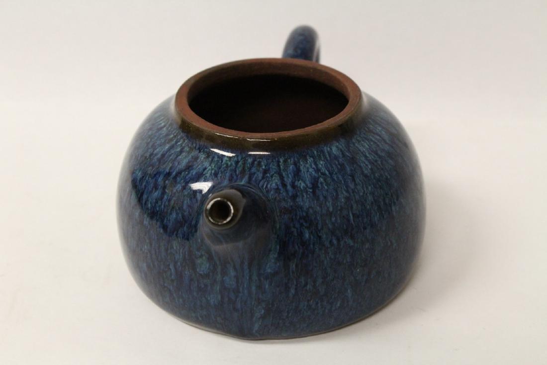 Chinese blue glazed Yixing teapot - 10