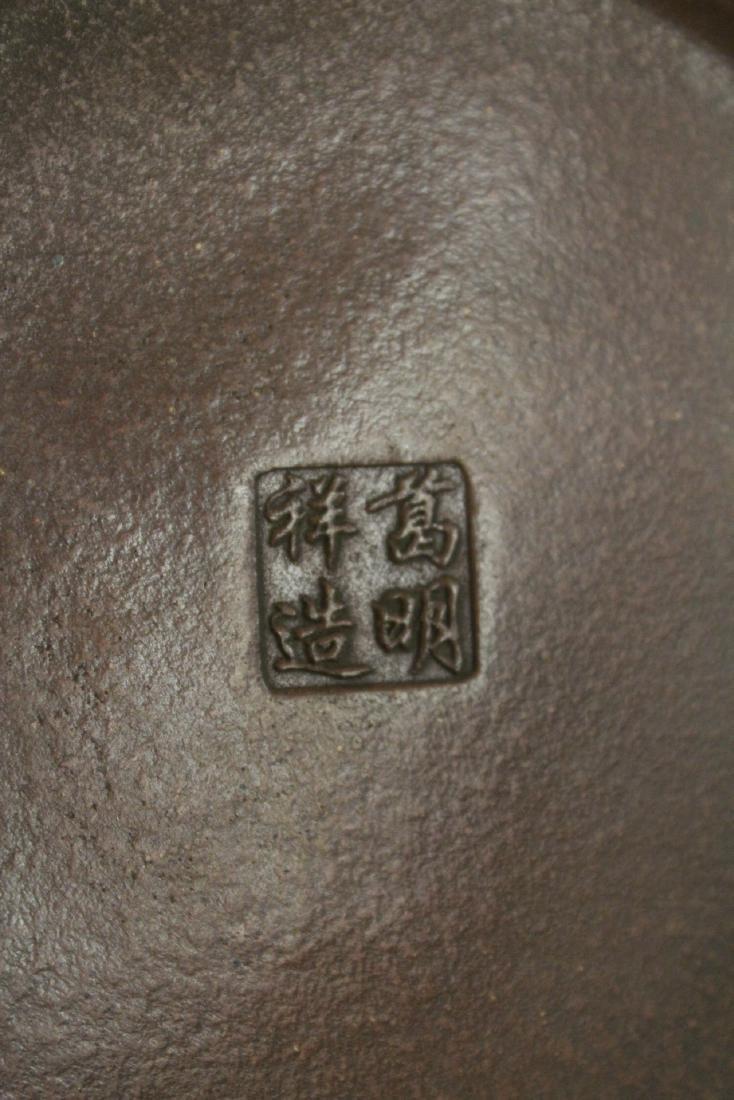 Chinese blue glazed Yixing teapot - 9