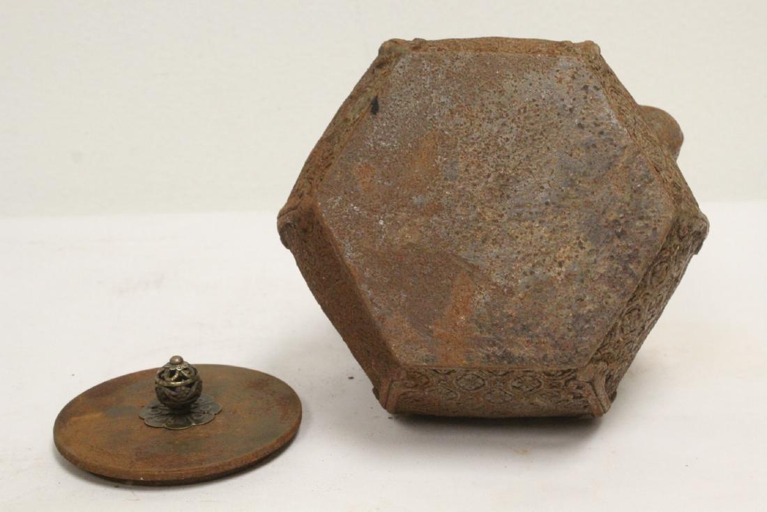 Cast iron teapot - 10