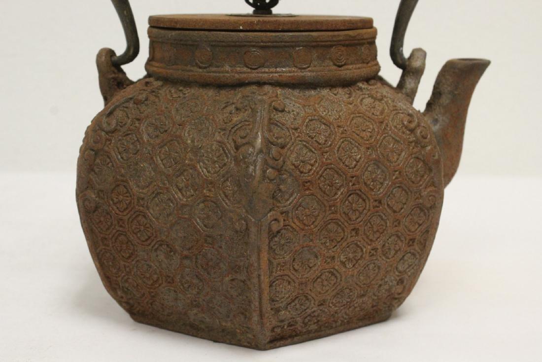 Cast iron teapot - 9