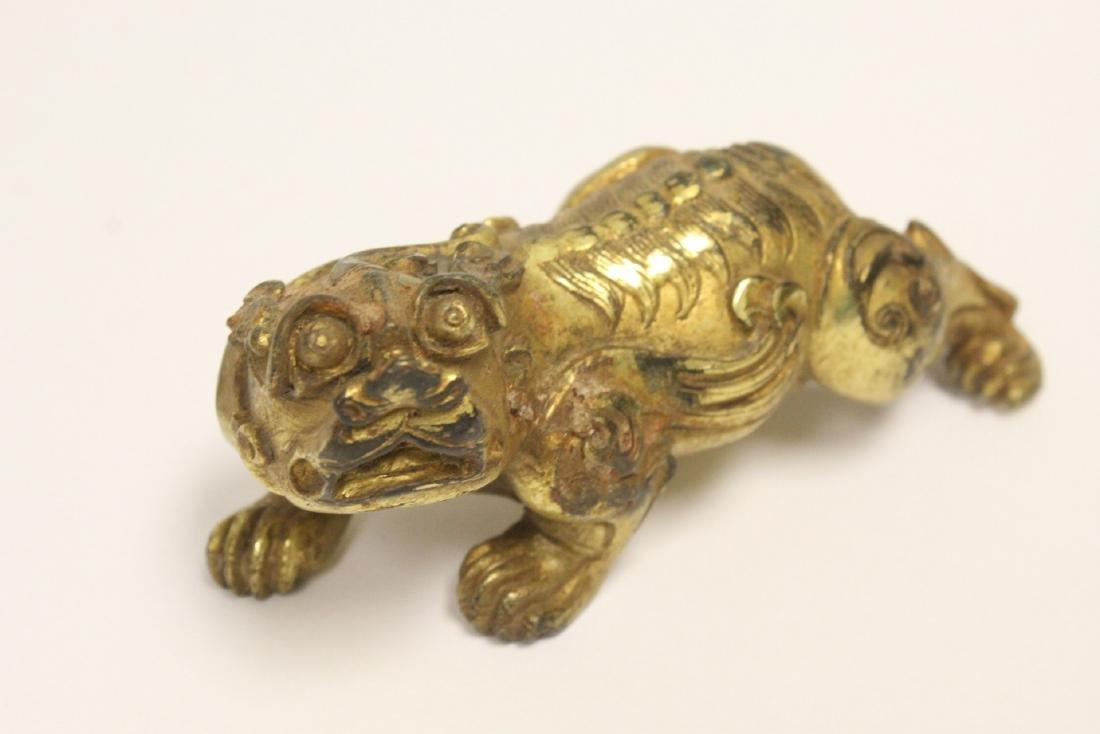 Chinese gilt bronze qilin