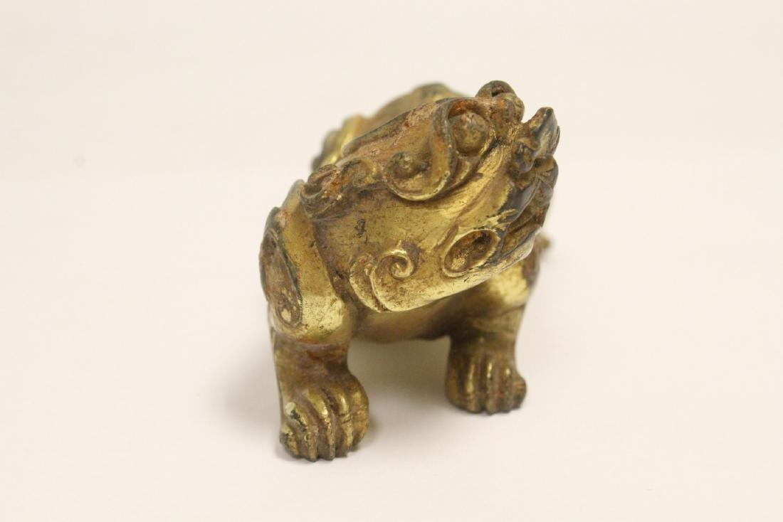 Chinese gilt bronze qilin - 3
