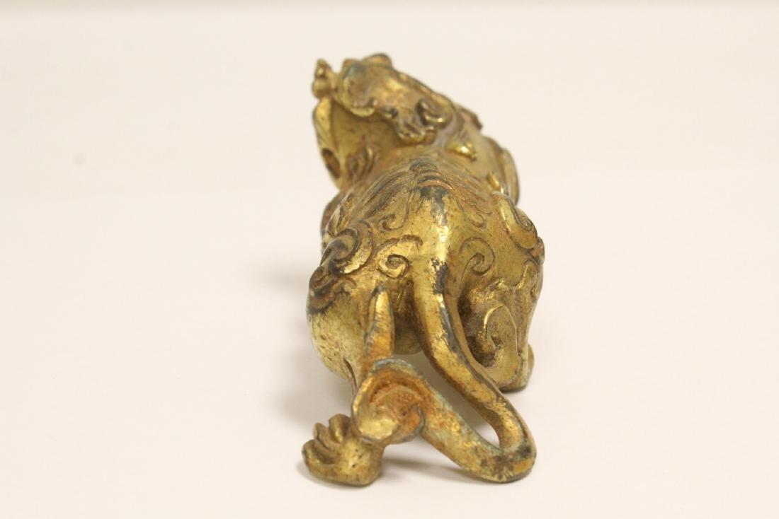 Chinese gilt bronze qilin - 5