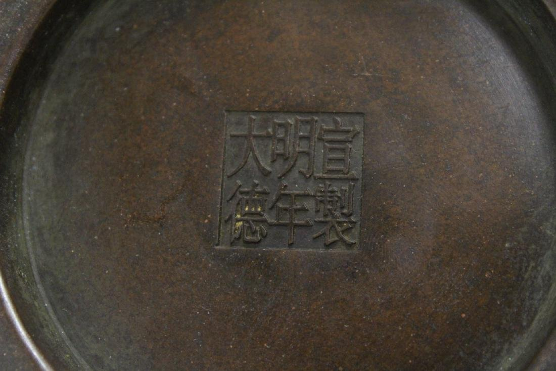 Chinese bronze censer - 10