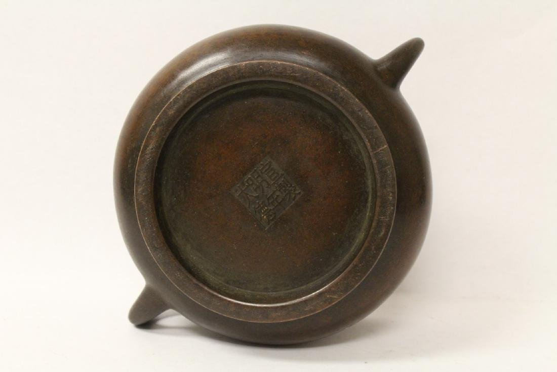 Chinese bronze censer - 9